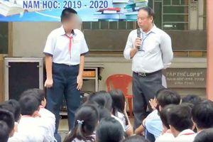 Phát tán clip kỉ luật học sinh lên mạng: Thầy hiệu phó nhận sai, nhà trường bị nhắc nhở