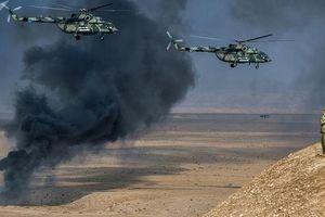 Trực thăng Nga bắt đầu tuần tra miền Bắc Syria