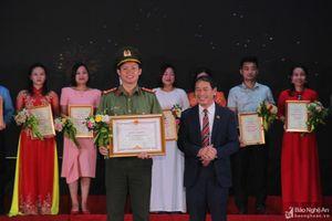 Công an Nghệ An đạt giải Nhất Hội thi Báo cáo viên, tuyên truyền viên pháp luật giỏi