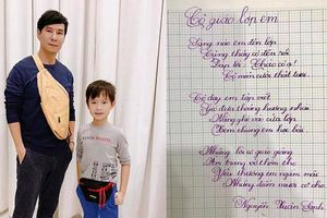 Con trai Lý Hải tự mình luyện chữ đẹp như in khiến bố mẹ cũng phải bất ngờ