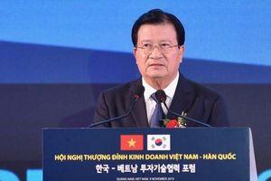 Phó thủ tướng: 'Việt Nam mong Hàn Quốc tham gia cổ phần hóa doanh nghiệp nhà nước'