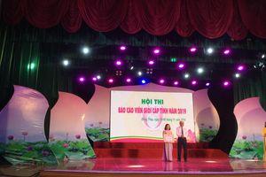 Thí sinh Trương Thị Minh Trang đạt Giải nhất Hội thi Báo cáo viên giỏi tỉnh Đồng Tháp
