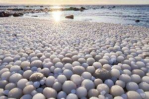 Xuất hiện hàng nghìn 'quả trứng băng' rực rỡ trên bãi biển Phần Lan