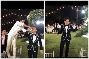 Trấn Thành liên tục bị ép uống rượu, trổ tài múa lửa cực đỉnh trong đám cưới Đông Nhi