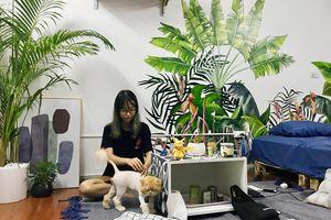 Chàng trai 9X biến căn hộ tập thể cho thuê rộng 30m² thành tổ ấm đẹp như cổ tích với chi phí 10 triệu đồng ở Hà Nội