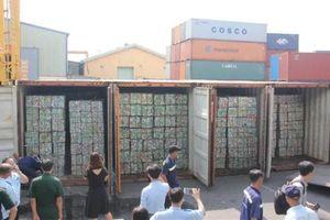 TP. HCM: 4 container phế liệu xuất khẩu luồng xanh, trốn thuế hơn 500 triệu đồng