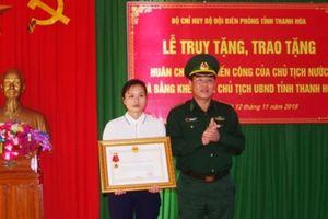 Truy tặng Huân chương cho Thiếu tá Biên phòng hy sinh khi bắt ma túy