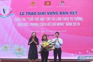 Trao giải vòng bán kết quốc gia cuộc thi tuổi trẻ học tập và làm theo lời Bác