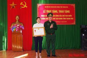 Truy tặng huân chương chiến công hạng nhất cho chiến sĩ biên phòng hi sinh