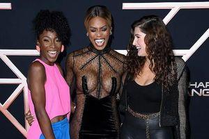 Nữ diễn viên Laverne Cox diện váy xuyên thấu tại sự kiện ra mắt phim
