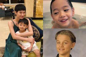 Quý tử được cả showbiz yêu thích của Trà My Idol có nét giống tài tử Leonardo DiCaprio