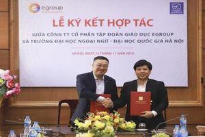 Tập đoàn Egroup ký kết hợp tác với Trường Đại học Ngoại ngữ tạo nhiều cơ hội việc làm cho sinh viên