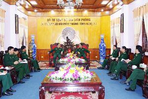 Thiếu tướng Phùng Quốc Tuấn làm việc với Bộ Chỉ huy BĐBP Nghệ An
