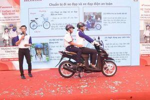 HEAD Sơn Minh tập huấn ATGT cho học sinh trường THCS Tân Phú