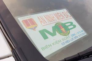 Cảnh sát tạm giữ xe của công ty bảo vệ gắn logo 'an ninh miền Bắc'