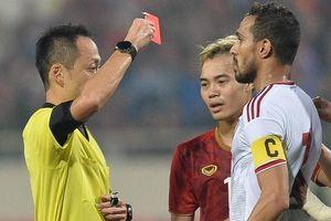 Lỗi DOGSO và tình huống cầu thủ UAE bị đuổi vì đẩy Tiến Linh