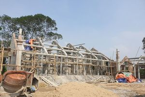 Chùa Linh Sâm xẻ đất đền Hữu xây trái phép ở Nghệ An: Ai tài trợ vốn xây?