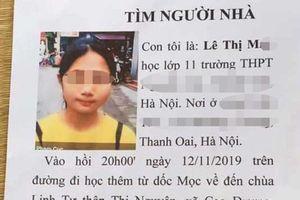 Tìm thấy nữ sinh lớp 11 mất tích ở Hà Nội khi đi học thêm