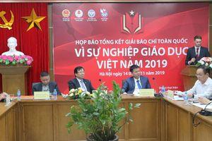 Gần 1.000 tác phẩm dự 'Giải báo chí vì sự nghiệp giáo dục Việt Nam' năm 2019