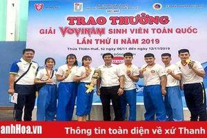 Thanh Hóa xếp thứ 3 toàn đoàn tại giải vovinam sinh viên toàn quốc 2019