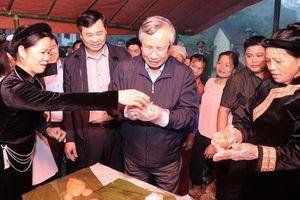 Đồng chí Trần Quốc Vượng dự Ngày hội đại đoàn kết toàn dân tộc tại Bắc Kạn