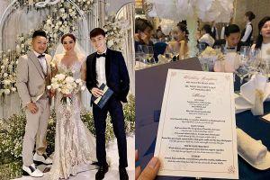 'Nghía' ngay xem thực đơn trong đám cưới Bảo Thy sang chảnh cỡ nào?