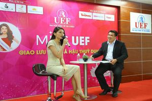 Á hậu Thùy Dung chia sẻ bí quyết học tiếng Anh thời 4.0 cho sinh viên UEF