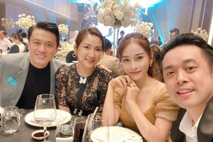 Vợ chồng Lam Trường tình cảm ở lễ cưới đồng nghiệp