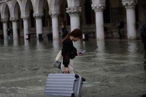 Hình ảnh thành phố Venice thơ mộng chìm trong biển nước