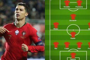 Ronaldo và đội hình dự kiến giúp Bồ Đào Nha giành vé dự Euro 2020