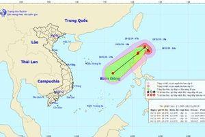 Bão Kalmaegi mạnh cấp 11 đang tiến vào Biển Đông