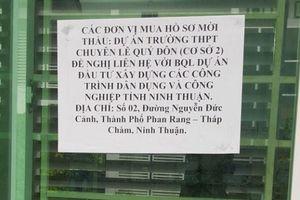 Đấu thầu tại Sở Giáo dục và Đào tạo Ninh Thuận: Bất lực khi mua hồ sơ mời thầu