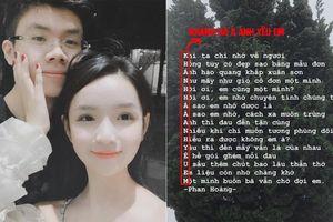 Tưởng làm thơ cho vui, rich kid Phan Hoàng khiến dân tình bất ngờ khi gửi gắm thông điệp tình yêu cho bạn gái