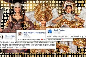 Top 3 National Costume 'gây bão' fan quốc tế: Chọn mẫu nào Hoàng Thùy cũng tỏa sáng tại Miss Universe 2019!