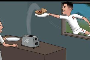 Biếm họa 24h: Ronaldo 'cướp' bàn thắng của đồng đội ở ĐT Bồ Đào Nha