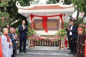 Gắn biển địa điểm lưu niệm sự kiện cách mạng kháng chiến chùa Thượng Cát