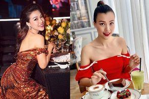 MC Hoàng Oanh ăn mặc cực gợi cảm trước khi lấy chồng Tây