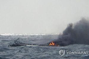 6 thuyền viên Việt Nam mất tích trong vụ cháy tàu Hàn Quốc trên biển