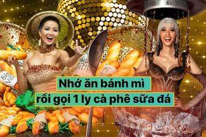 H'Hen Niê úp mở tiết lộ Hoàng Thùy đã chọn xong National Costume: 'Bánh mì rồi đến Cafe'
