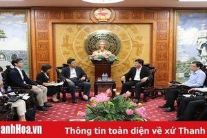 Phó Chủ tịch UBND tỉnh Mai Xuân Liêm tiếp và làm việc với đoàn công tác của Công ty TNHH Nippon Koei - Nhật Bản