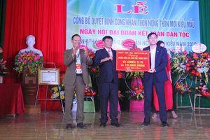 Bắc Giang: Thôn Kiểu đón nhận danh hiệu thôn đạt chuẩn nông thôn mới kiểu mẫu