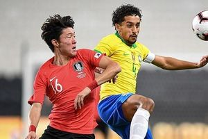 Tuyển Hàn Quốc đá giao hữu thua Brazil 0-3