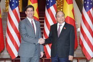 Bộ trưởng Quốc phòng Mỹ: 'Washington ủng hộ lập trường của Việt Nam về vấn đề Biển Đông'