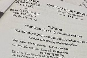 Xét xử vụ án 'Đòi nhà cho thuê' ở Hà Nội