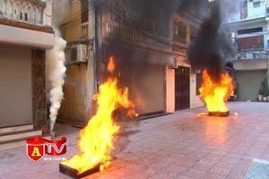 Diễn tập phương án chữa cháy và cứu nạn tại khu dân cư