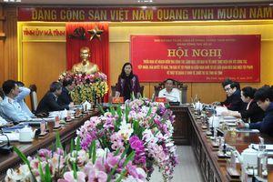 Đoàn công tác của Ban chỉ đạo Trung ương về phòng, chống tham nhũng làm việc tại Hà Tĩnh