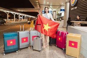 Hoa hậu Lương Thùy Linh mang 140kg hành lý dự thi Miss World 2019