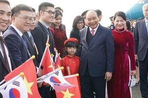 Những hình ảnh đầu tiên của Thủ tướng Nguyễn Xuân Phúc tại Hàn Quốc