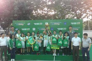 2 đội đoạt ngôi vô địch tại Giải Bóng rổ học sinh Tiểu học Hà Nội