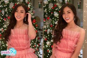 Lương Thùy Linh diện đầm hồng công chúa, ra mắt cực ấn tượng trong phần thi tài năng tại Miss World